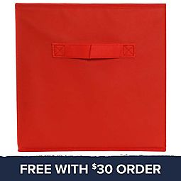 Red Collapsible Storage Bin: Free With $30 Order