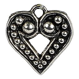 Silver Heart Charm: Free With $10 Order